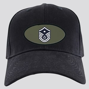 USAF: MSgt E-7 (Green) Black Cap with Patch