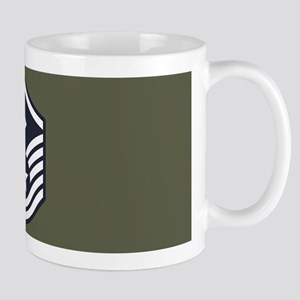 USAF: MSgt E-7 (Green) 11 oz Ceramic Mug