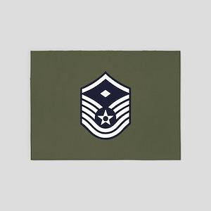 USAF: MSgt E-7 (Green) 5'x7'Area Rug