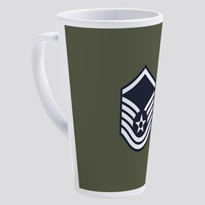 USAF: MSgt E-7 (Green) 17 oz Latte Mug