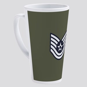 USAF: TSgt E-6 (Green) 17 oz Latte Mug