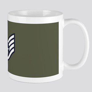 USAF: SSgt E-5 (Green) 11 oz Ceramic Mug