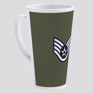 USAF: SSgt E-5 (Green) 17 oz Latte Mug