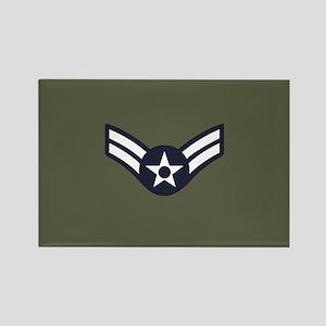 USAF: A1C E-3 (Green) Rectangle Magnet