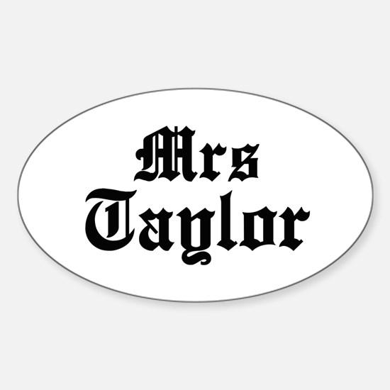 Mrs Taylor Oval Decal