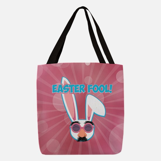 Easter Fool Bunny with Groucho Polyester Tote Bag