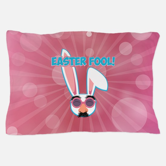 Easter Fool Bunny with Groucho Glasses Pillow Case