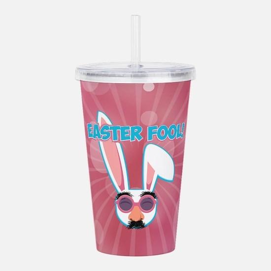 Easter Fool Bunny with Acrylic Double-wall Tumbler