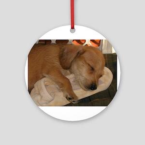 Sleepy Puppy Ornament (Round)