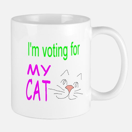 Voting For My Cat Mug