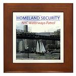U.S.S. Homeland Security Framed Tile