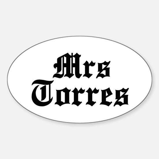 Mrs Torres Oval Decal