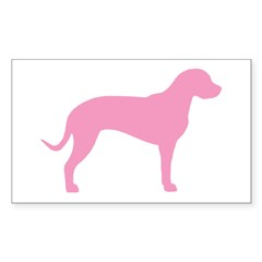 Pink Catahoula Rectangle Decal