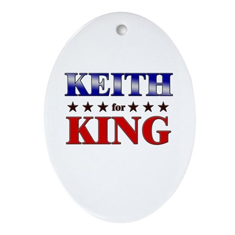 KEITH for king Oval Ornament
