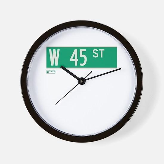 45th Street in NY Wall Clock
