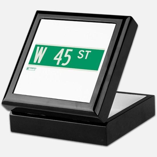 45th Street in NY Keepsake Box