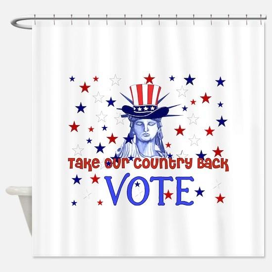 Vote Democratic Shower Curtain