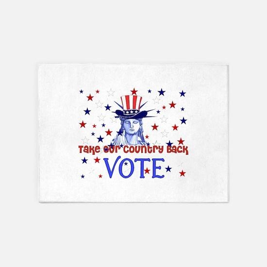 Vote Democratic 5'x7'Area Rug