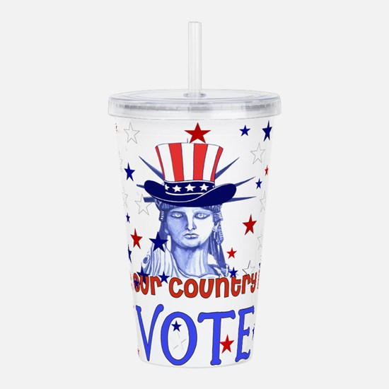 Vote Democratic Acrylic Double-wall Tumbler