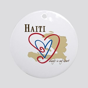 Always In My Heart Ornament (Round)/Haiti
