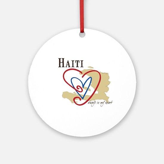 Always In My Heart Ornament (Round)/Haiti