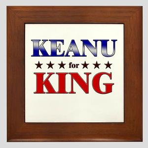 KEANU for king Framed Tile