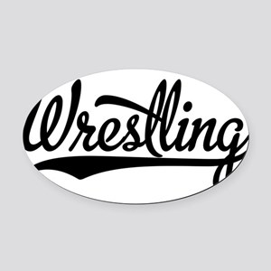 Wrestling Oval Car Magnet