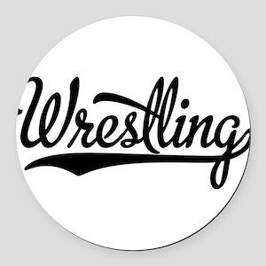 Wrestling Round Car Magnet