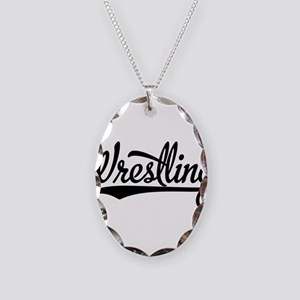 Wrestling Necklace Oval Charm