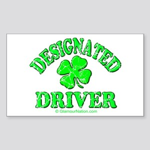 Designated Driver 2 Rectangle Sticker