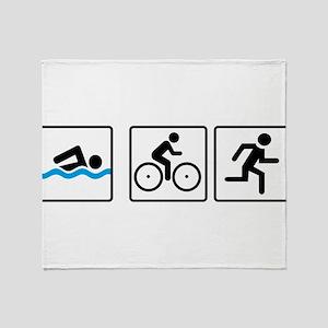 triathlon Throw Blanket