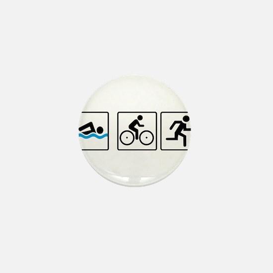 triathlon Mini Button