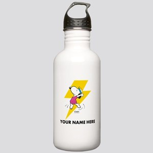 Snoopy Dance Personalizable Water Bottle