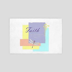 Faith dragonfly 4' x 6' Rug
