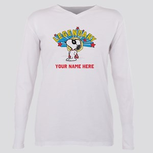 Snoopy Legendary Persona Plus Size Long Sleeve Tee