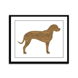 Leopard Spots Catahoula Framed Panel Print