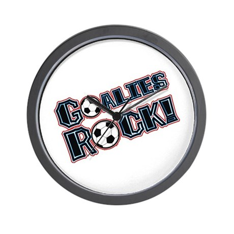 Goalies Rock! Wall Clock