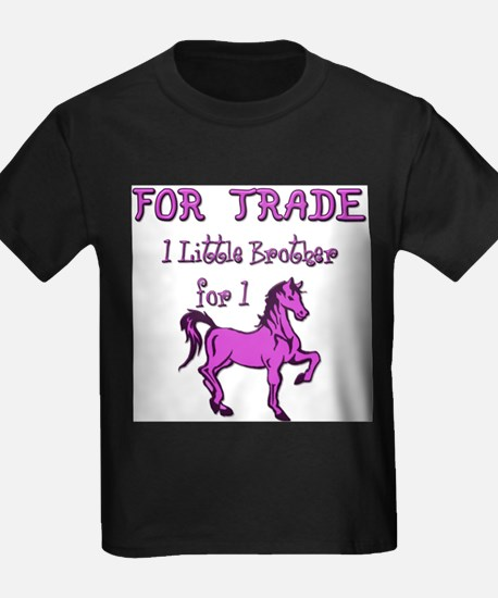Little Brother For Trade Women's Pink T-Shirt