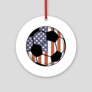 Soccer Ball USA Ornament (Round)