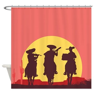 Mexican Cowboy Shower Curtains