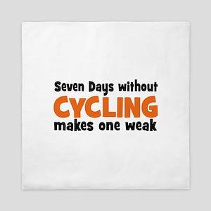 cycling Queen Duvet
