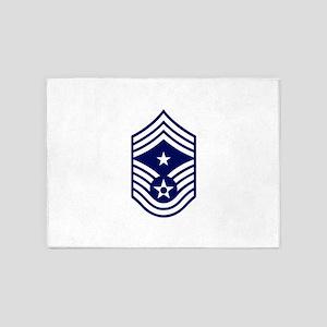 USAF: CCM E-9 (White) 5'x7'Area Rug