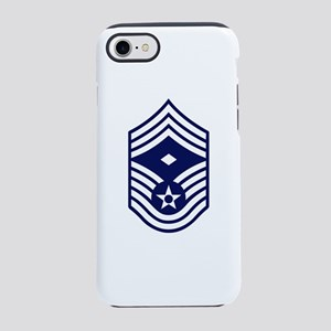 USAF: CMSgt E-9 (White) iPhone 8/7 Tough Case