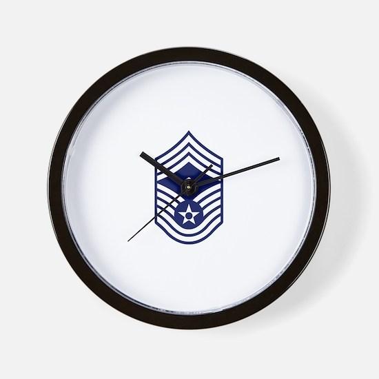 USAF: CMSgt E-9 (White) Wall Clock