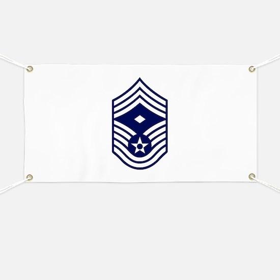 USAF: CMSgt E-9 (White) Banner