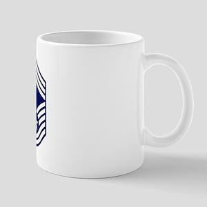 USAF: CMSgt E-9 (White) 11 oz Ceramic Mug