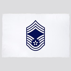 USAF: CMSgt E-9 (White) 4' x 6' Rug