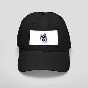 USAF: SMSgt E-8 (White) Black Cap with Patch