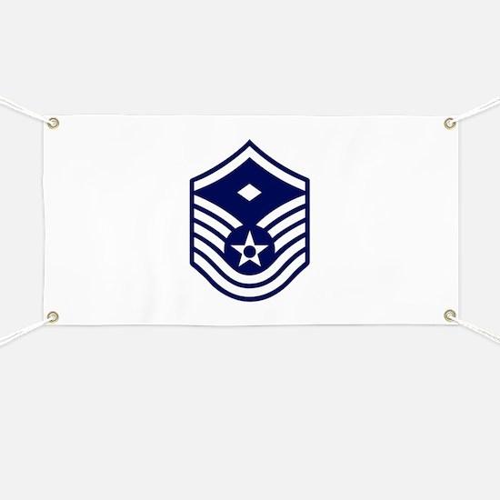 USAF: MSgt E-7 (White) Banner