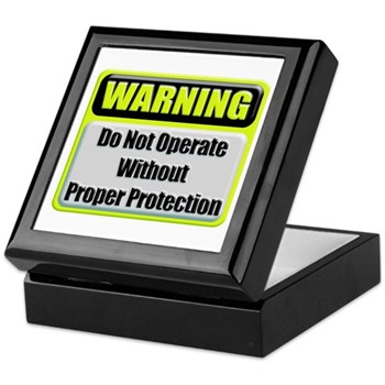 Do Not Operate Warning Keepsake Box